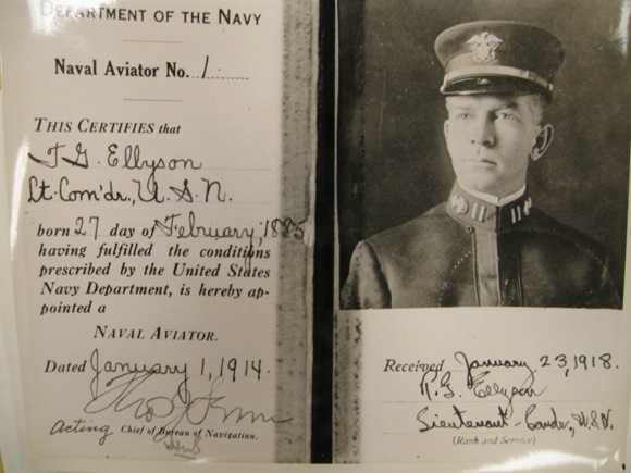 1st Naval Aviator, License courtesy of Library of Congress