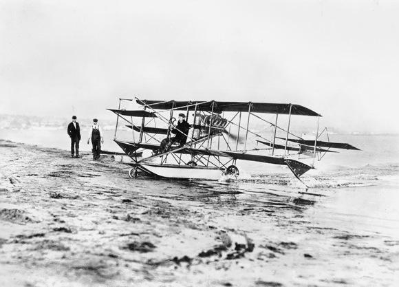First Seaplane Flight