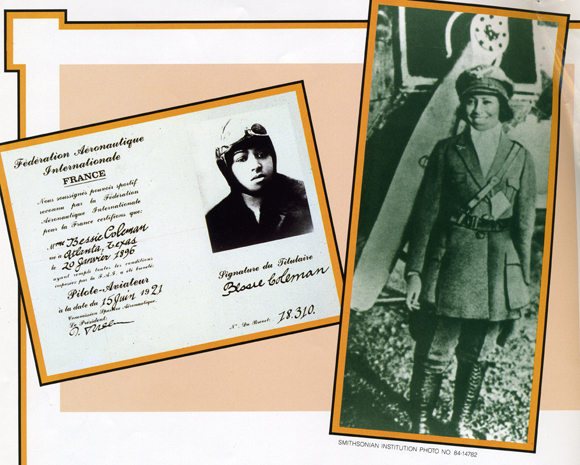 """The air is the only place free from prejudices."""" - Bessie Coleman, pioneering aviatrix"""