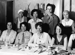 With Amelia Earhart (front center) and the Ninety-Nines Club