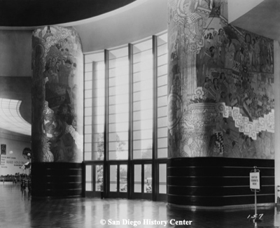Spirit of America & Asia Murals, 1935. These were removed for the 1936 exhibit.