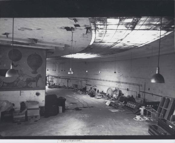 Interior of exhibit hall