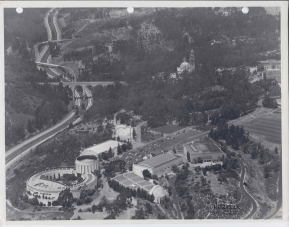 Aerial view of the Ford Building, c. 1935